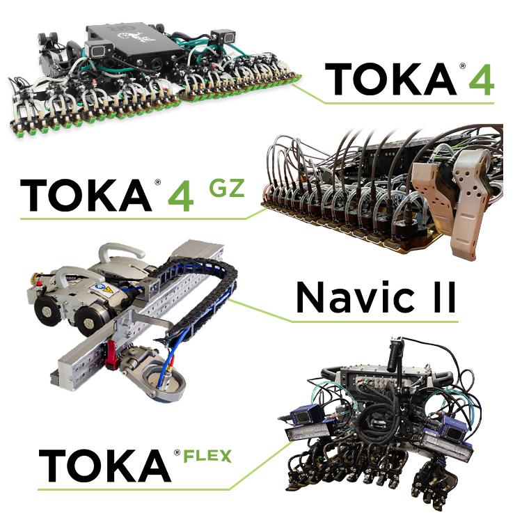 rapid ultrasonic gridding, rapid AUT and PAUT robots